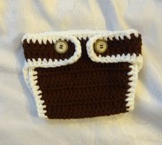 Newborn Crochet  Diaper Cover / Baby Girl Diaper Cover / by Ifonka, $14.00