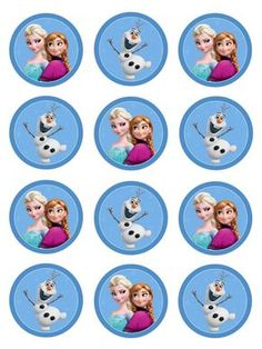 Free Frozen Party Ausdrucke – One Charming Day - Party Ideen Frozen Birthday Theme, Frozen Themed Birthday Party, Birthday Cupcakes, Birthday Parties, Frozen Cupcake Toppers, Frozen Free, Deco Disney, Frozen Party Decorations, Kids Party Themes