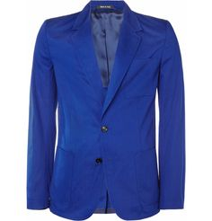 My mrporter.com pick of the week. Great Margiela spring blazer. Bold colour palettes are a failsafe way to make an impact, and this slim-fit lightweight cotton-twill blazer from Maison Martin Margiela ticks all the boxes.