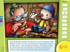 Pinocho - Cuentos clásicos con opción de idiomas y audio en castellano, catalán e inglés Online Lessons, Winnie The Pooh, Disney Characters, Fictional Characters, Audio, Poster, Short Stories, Paper Clothes, Colored Paper