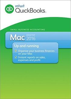 QuickBooks Mac 2016 Small Business Accounting Software