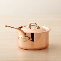 2 or 3 quart Mauviel Copper Saucepan. $200-$355