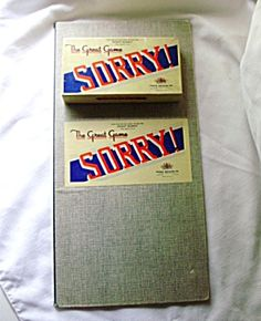 Vintage SORRY Game by Parker Brothers-c.1950