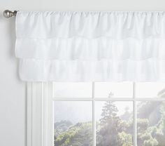 Ruffle Valance | Pottery Barn Kids - Way to pretty!