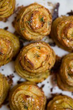 Parmesan Thyme Potato Stacks /