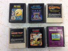 Vtg Lot Of 6 Atari 2600 Video PAC Man Pinball Mouse Trap Combat Carnival Combat  | eBay