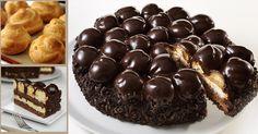 Ingredienti Per il pan di spagna al cioccolato (potete anche acquistarlo pronto): - 150 gr di farina 00 - 150 gr di zucchero - 6 uova - 70 gr di cacao amaro in polvere - 1 bustina di lievito - 1 bustina di vanillina - 1 pizzico di sale Per iProfitterol (potete anche acquistarli pronti):…