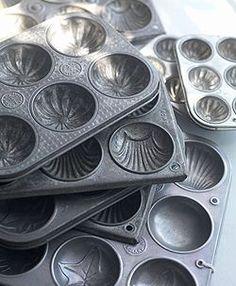 Metal Biscuit Baking Tins / Vintage