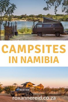 I love Namibia and I love camping, especially at quiet wilderness places without many people. I've written before about campsites in Namibia: the southwest, but haven't focused on much of the rest of the country. So here are 15 Namibia campsites: a gui Africa Destinations, Travel Destinations, Safari, Uganda, Built In Braai, Namibia, River Lodge, Camping Photography, Lake George