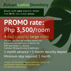 Room with Own Electric Meter in Ladies Dormitory / Boarding House For Rent in Butuan City (Monthly) Dormitory Room, Boarding House, Rooms For Rent, Renting A House, City, Business, Bed, Stream Bed, Store