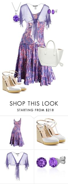 """""""Untitled #1517"""" by pholtond on Polyvore featuring Tracy Feith, Fendi, Alberta Ferretti, Belk & Co. and Bling Jewelry"""