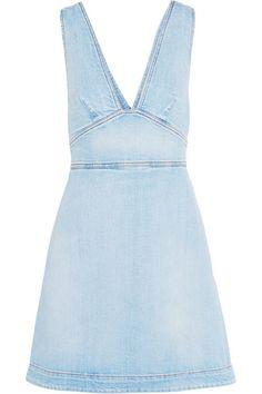 Light-blue stretch-denim Zip fastening along back  98% cotton, 2% elastane  Dry clean Designer wash: Sun Faded Blue  Made in Italy