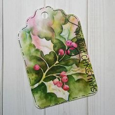 6 9 12 15 24 Poinsettia and Holly Berry Watercolor Gift