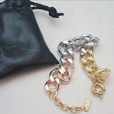 NIP Luv AJ Rose Gold Ombré Bracelet OS New/never worn Luv AJ rose gold ombré bracelet from sold out pop sugar box. Adjustable clasp. Luv AJ Jewelry Bracelets