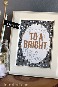 Hi Friends! It's almost that time! New Year's Eve!  I made up this printable to celebrate the night. My family and I love to decorate even though we usually don't do too much. In fact, we usually just celebrate the east coast New Year and call it a night.  However, our house always …