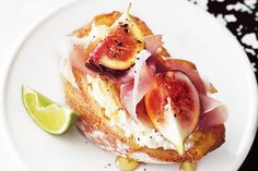 Fig and ricotta toasties