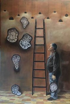 "Saatchi Art Artist Carmen Aurariu; Painting, ""In Search of Lost Time"" #art"