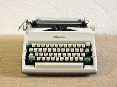 Restored Olympia SM-9 Portable Typewriter by ReCreative85 on Etsy