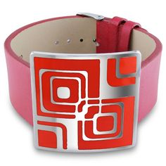 M by Miadora Stainless Steel Epoxy and 7-inch Bracelet, Women's