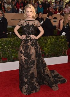 Rachel McAdams in Elie Saab at the 2016 Screen Actors Guild Awards