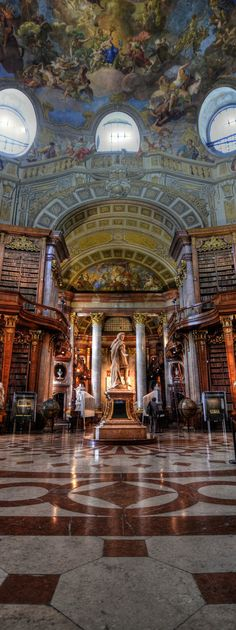 The Prunksaal - The Old Imperial Library in Horburg Palace, Vienna | Austria