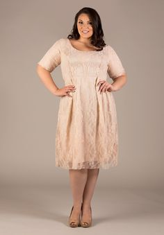 "Kara Lace Dress  ""A plus size dress covered in lace and femininity. Here is the dress you were searching long and hard for. Dress up or dress down, a must have piece for any season."" The post  Kara Lace Dress  appeared first on  Vintage & Curvy .  http://www.vintageandcurvy.com/product/kara-lace-dress-2"