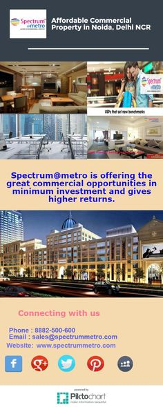 Affordable #CommercialProperty in #Noida, #DelhiNCR only on @SpectrumatMetro