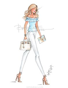 Heading into the weekend with a new book in hand. What's on your summer reading list? Isn't it funny that now we want summer reading recs… Fashion Illustration Sketches, Fashion Sketches, Fashion Art, Girl Fashion, Fashion Outfits, Megan Hess, Fashion Design Drawings, Costume, Designs To Draw