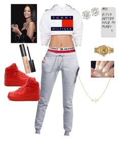 Designer Clothes, Shoes & Bags for Women Cute Swag Outfits, Chill Outfits, Dope Outfits, Trendy Outfits, Girls Fashion Clothes, Teen Fashion Outfits, Outfits For Teens, Looks Hip Hop, Tommy Hilfiger Fashion