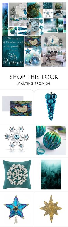 """It came upon a midnight clear"" by babooptgmi ❤ liked on Polyvore featuring interior, interiors, interior design, home, home decor, interior decorating, The Great British Card Company, Bling Jewelry, Madison Park and Bibi"