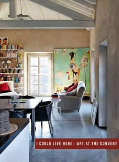French By Design: Art at the Convent {I could live here series}