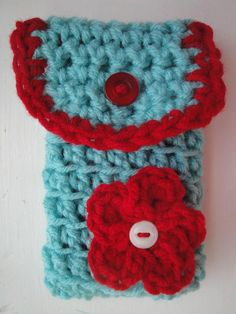 RTS Hand Crocheted Cell Phone Case with by AuntieRuthsBoutique