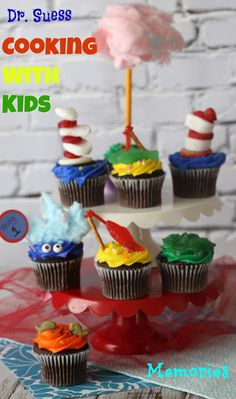 Yummy and fun Dr. Seuss Cupcakes to celebrate Dr. Seuss Day