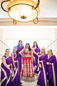 Wedding of Bhargava & Anu at Mason Murer Fine Art Gallery, Atlanta (Part Indian Bridesmaid Dresses, Bridesmaid Saree, Bridesmaid Outfit, Bridesmaids And Groomsmen, Bridesmaid Ideas, Wedding Bridesmaids, Indian Bridal Party, Pakistani Bridal, Bollywood Bridal