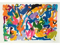 Orgy 5 by Walter Battiss. Art Brut, Pop Art. figurative