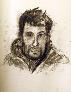Apunte. Dani Opp. retrata a Borja A. 35x50