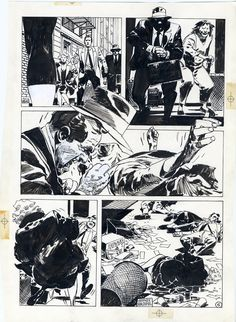 JORGE ZAFFINO-Punisher Assassin's Guild p.6 Comic Art