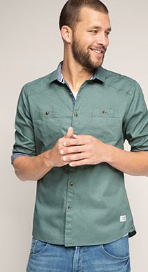 The Esprit Online-Shop offers a large selection of high quality fashions for men, women and children as well as the latest fashion accessories and furnishings. Shops, Fashion Accessories, Men Casual, Menswear, Mens Fashion, Shirt Dress, Cotton, Mens Tops, Shopping