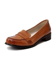 Brown Cambridge Style Flat Shoes with Panel to Front