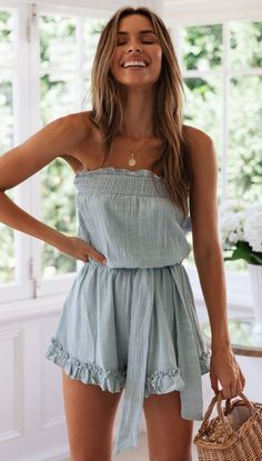 1 – Casual Outfit For Teens – Casual dresses Boho Summer Dresses, Trendy Summer Outfits, Outfits For Teens, Casual Dresses For Women, Spring Outfits, Casual Outfits, Cute Outfits, Fashion Outfits, Clothes For Women