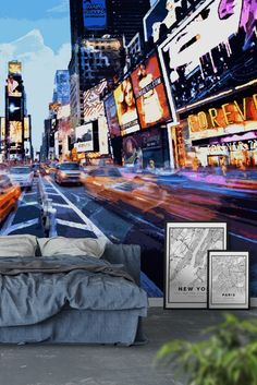 Times Square Wall Mural - Wallpaper