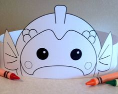 Monkey Paper Crown COLOR YOUR OWN Printable by PutACrownOnIt