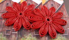 Flexible Plastic Swirl Flower 35mm Beads in by beadbarnsupplies, $1.35