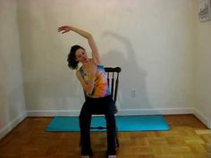 With a mix of side stretches, hip openers, and a forward fold, this video demonstrates how to do yoga in a chair. Great for the office or anywhere without space for a yoga mat. Just make sure the chair will not slide!