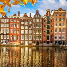 Traditional old buildings in Amsterdam, the Netherlands. Free art print of Old buildings in Amsterdam. 3 Days In Amsterdam, Amsterdam Winter, Amsterdam Art, Amsterdam Houses, Amsterdam Netherlands, Holland Netherlands, Amsterdam Travel, Voyage Rome, Amsterdam Itinerary