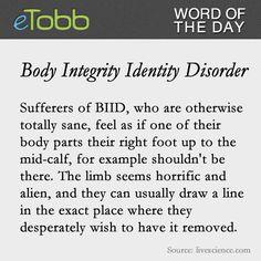 #Body Integrity Identity #Disorder - eTobb.com