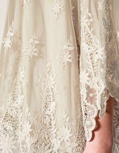 Zara lace/embroidered bolero