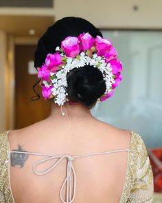 "Photo from Kajol R Paswwan Mumbai Makeup Artist ""Portfolio"" album Indian Bridal Hairstyles, Bun Hairstyles, Wedding Hairstyles, Makeup Artist Portfolio, Bridal Hair Buns, Wedding Preparation, Mehendi, Bridal Makeup, Stylists"