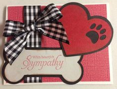 Loss of pet sympathy card - paw shaped hole in your heart by webmackster - Cards and Paper Crafts at Splitcoaststampers