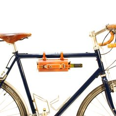 Bicycle Mounted Leather Wine Carrier on AHAlife